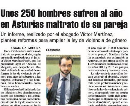 Rueda de prensa sobre maltrato a hombres asturianos